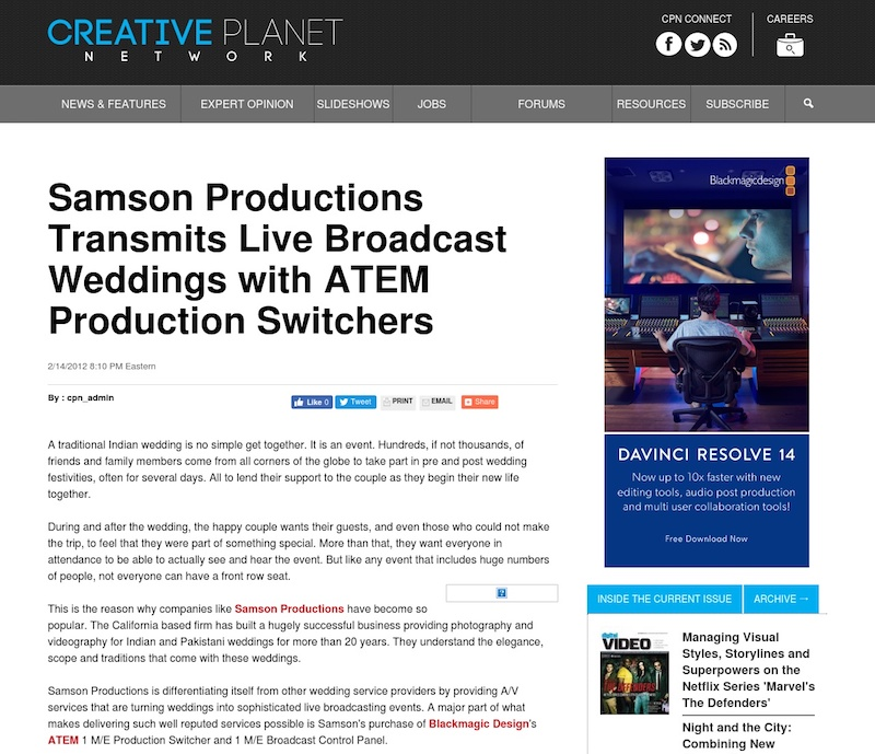 samson productions, indian wedding, indian wedding photography, live broadcast