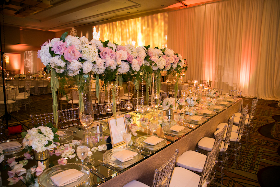 Elegant Hilton Anaheim Wedding in Pink and Gold